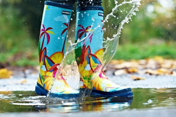 Moda infantil para la lluvia