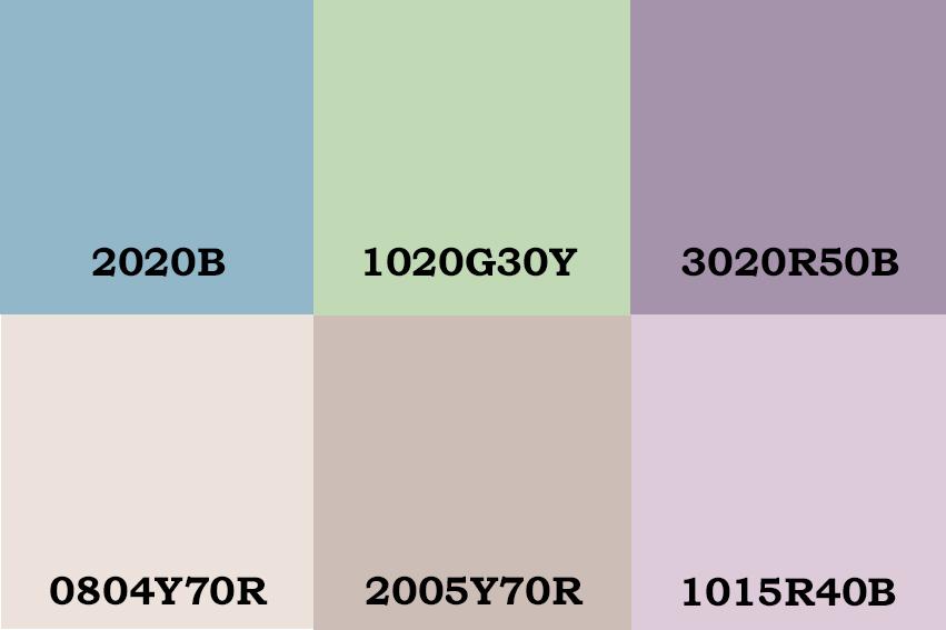Los colores de pintura elegidos