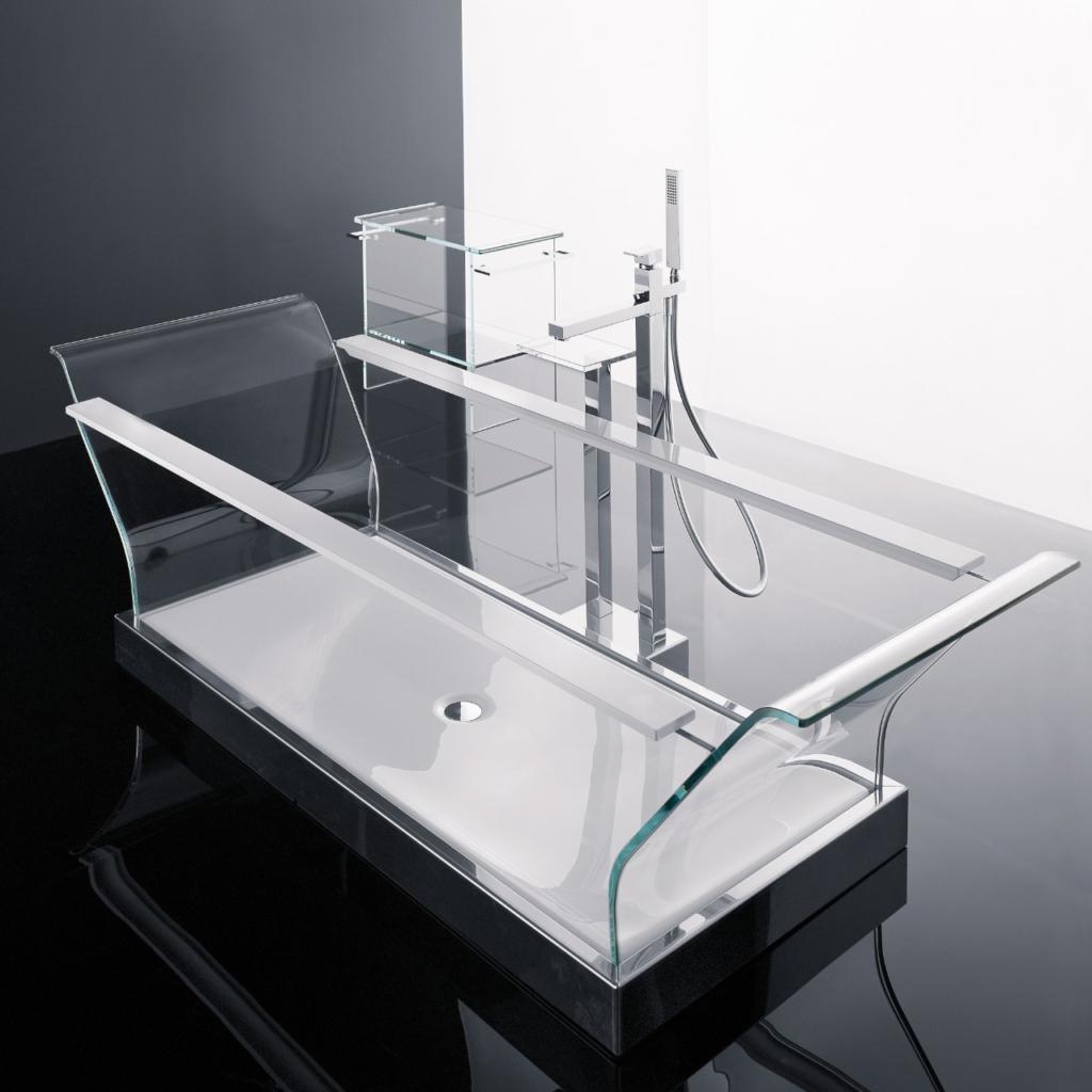 bañera como elemento decorativo - bañera de vidrio de alta seguridad