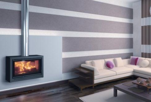 Estufas de leña con diseño moderno - Serie RK de Carbel