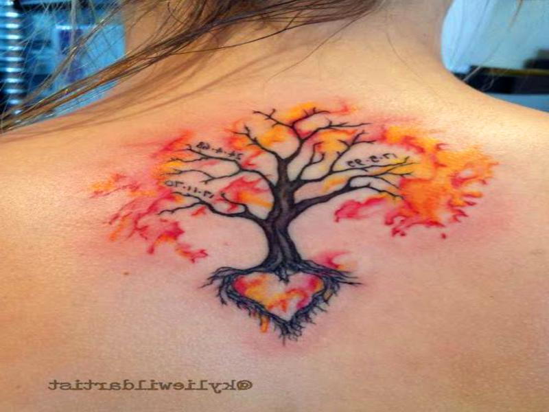 Tatuajes de flores en la espalda para chicas