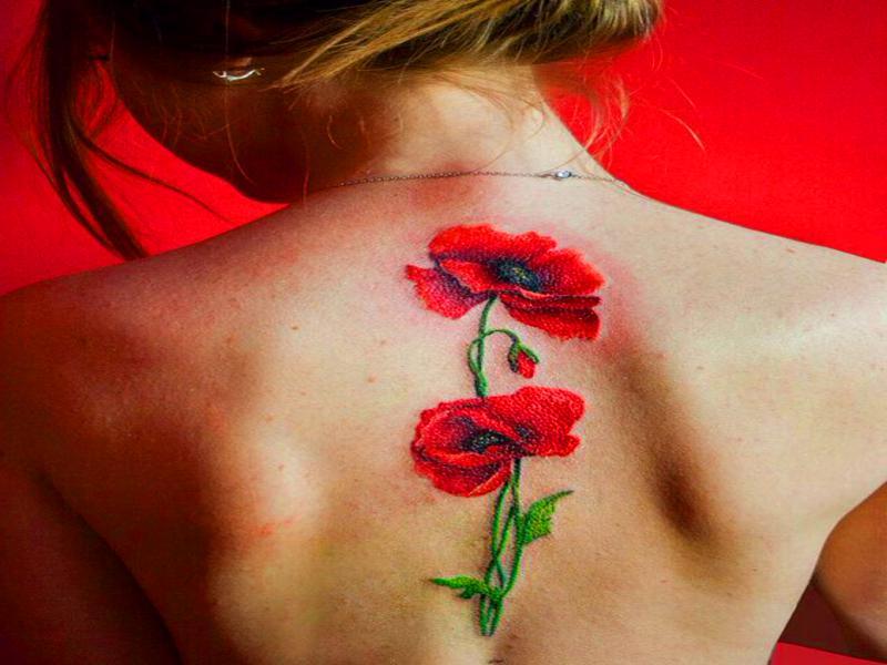 Tatuajes de flores mujeres