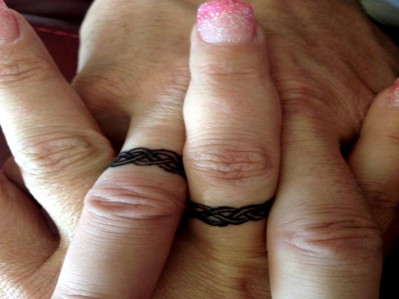 tatuajes para parejas - anillos