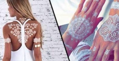 Tatuajes blancos - Pros y contras de los tattoos con tinta blanca